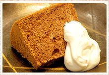 若女将の手作りケーキ